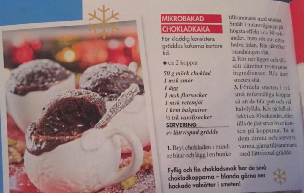 Mikrobakad chokladkaka